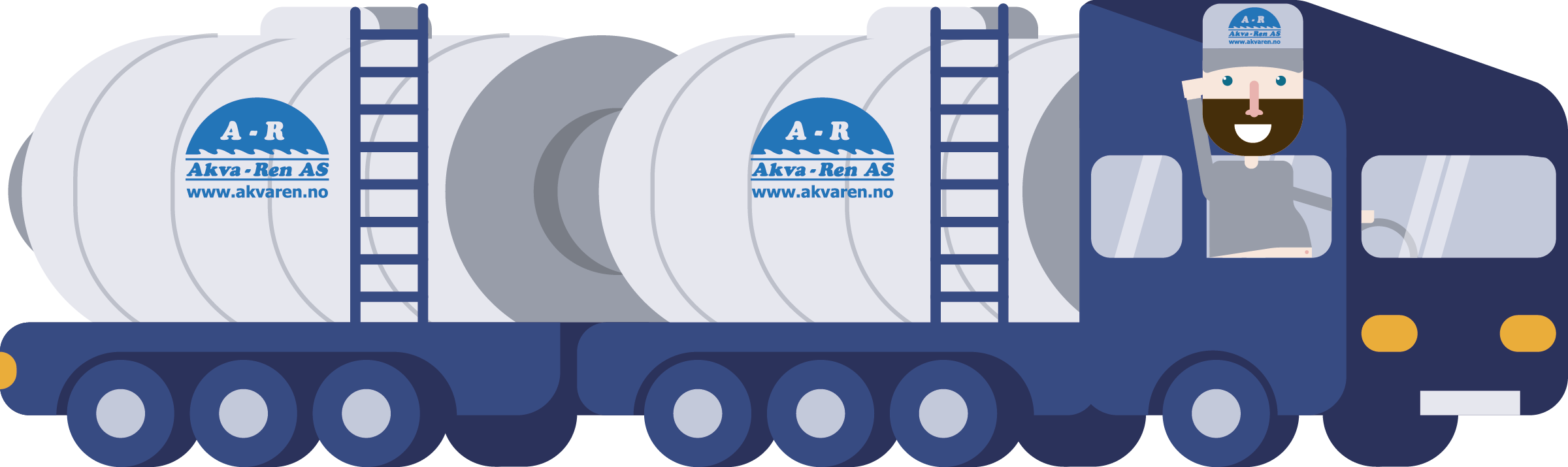 Akva-Ren transport med bil.